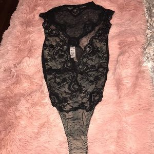 NWT High Neck lace body suit